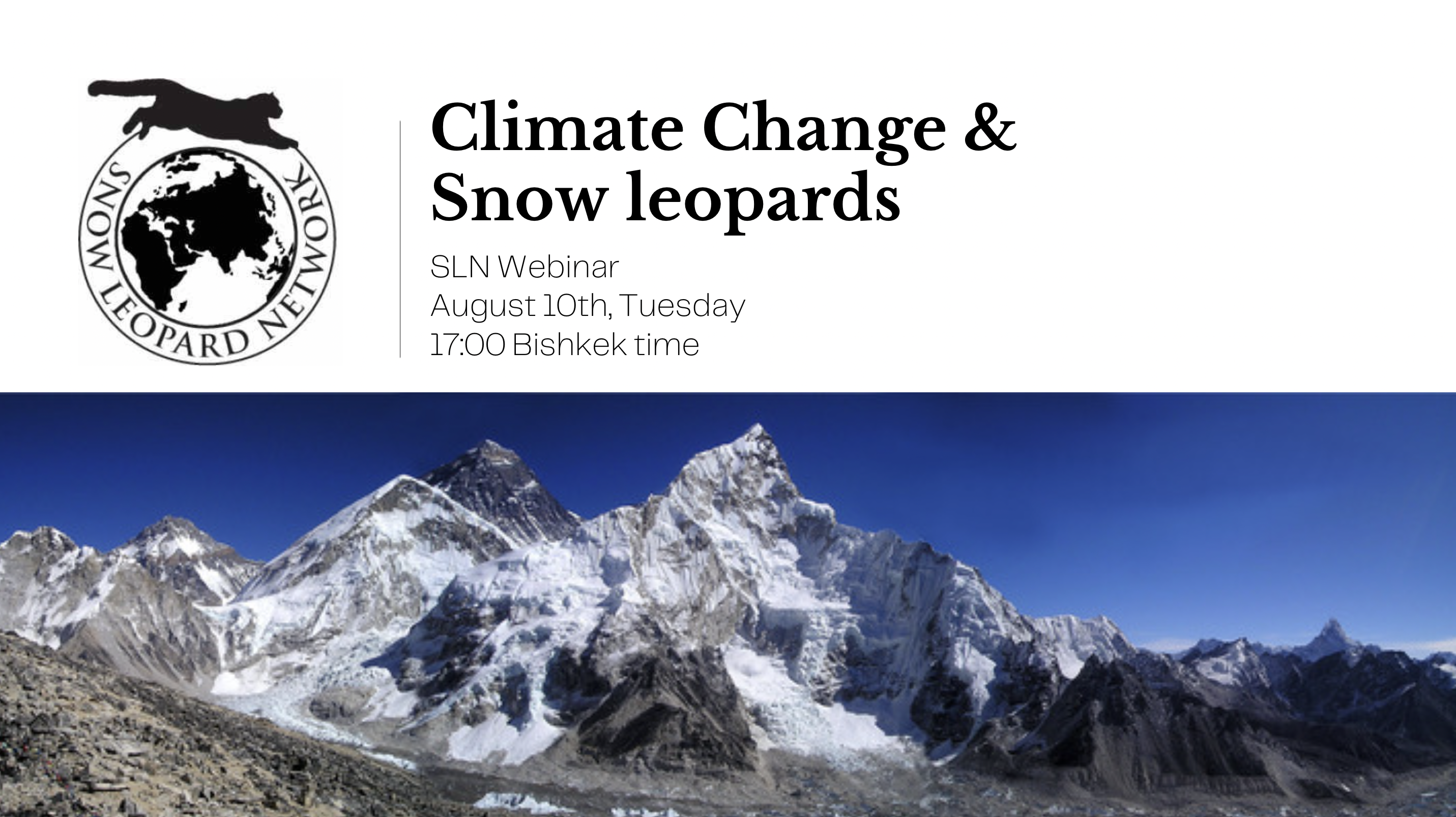 SLN Webinar: Climate Change & Snow Leopards