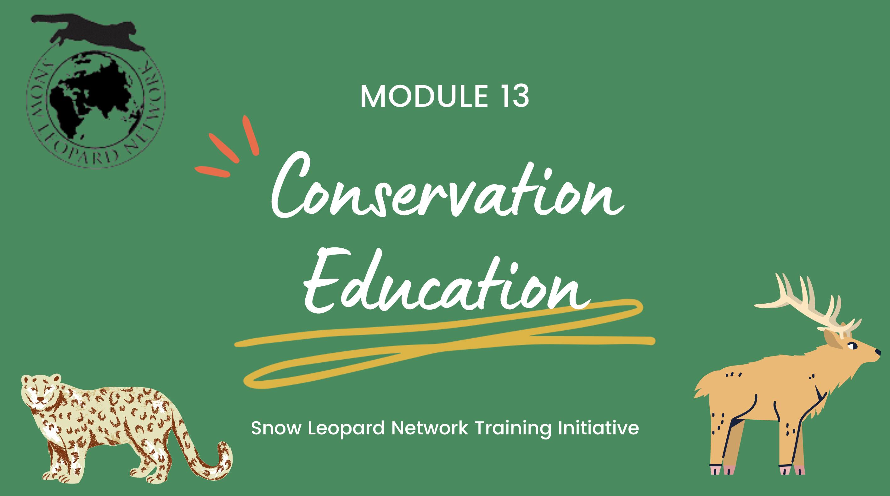 Module 13: Conservation Education